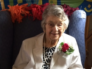 Ebenezer's oldest member, Alice Kinley, turns 100 years young.