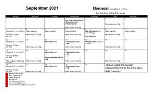 September Calendar 2021- September 5pic